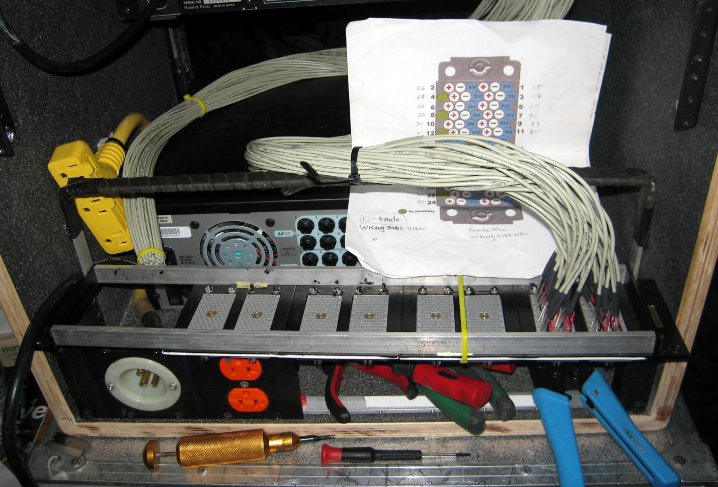 What does the back of your rack look like when you\'re wiring it ...