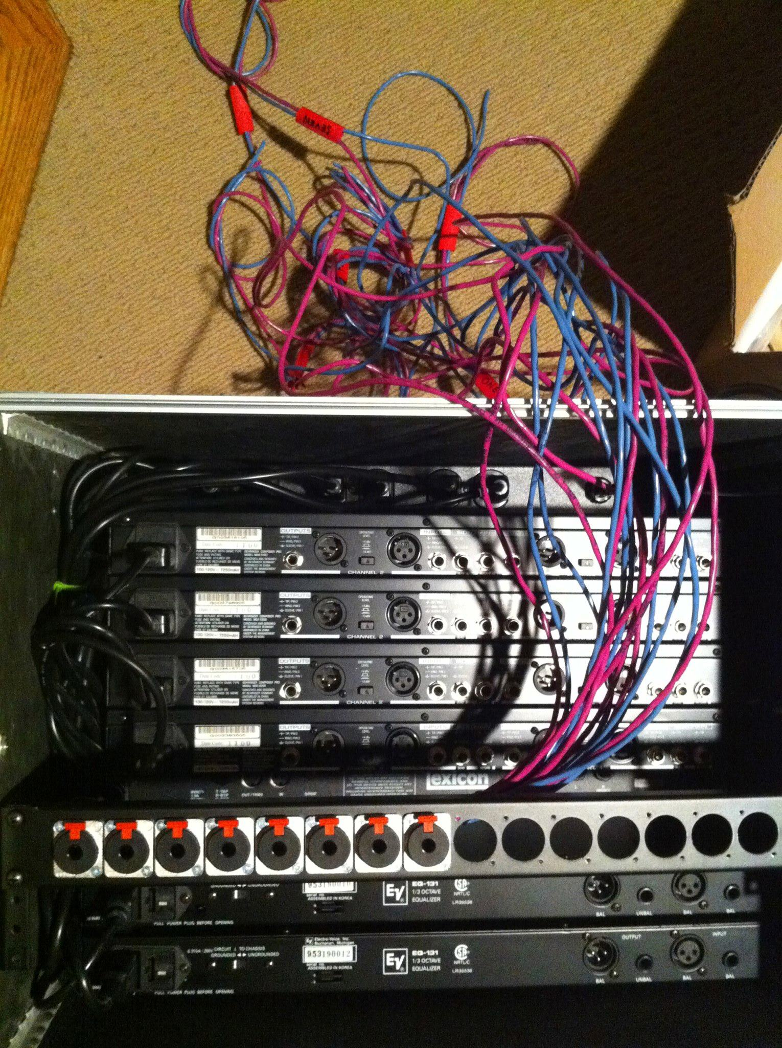 What does the back of your rack look like when you're wiring it?