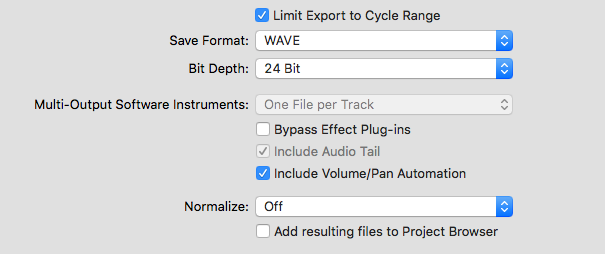 Exporting files as WAV stems (Volume/Pan problem) - Gearslutz
