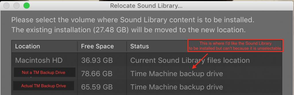 Logic Pro X 10 4 2 | Issue Moving Sound Library to External