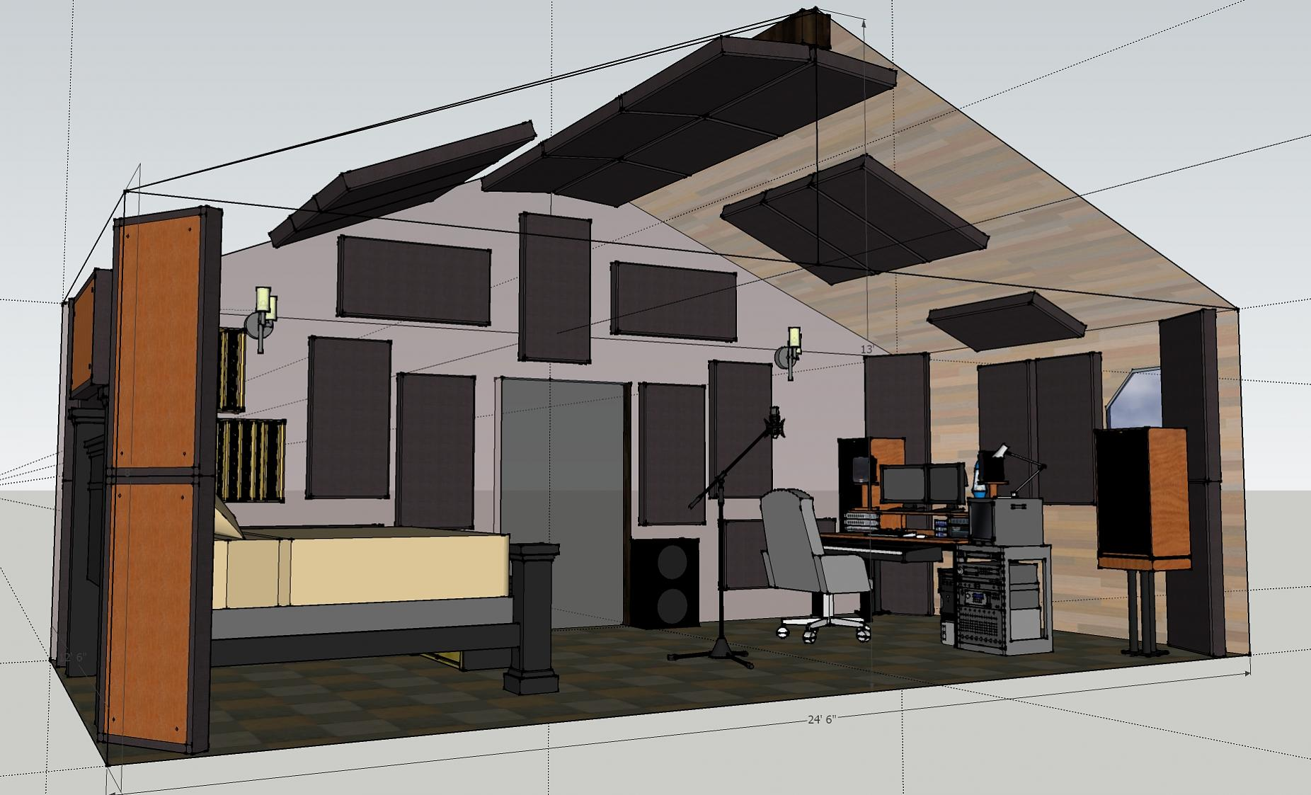 Vaulted ceiling studio project acoustic treatments gearslutz vaulted ceiling studio project acoustic treatments studio upg dailygadgetfo Gallery