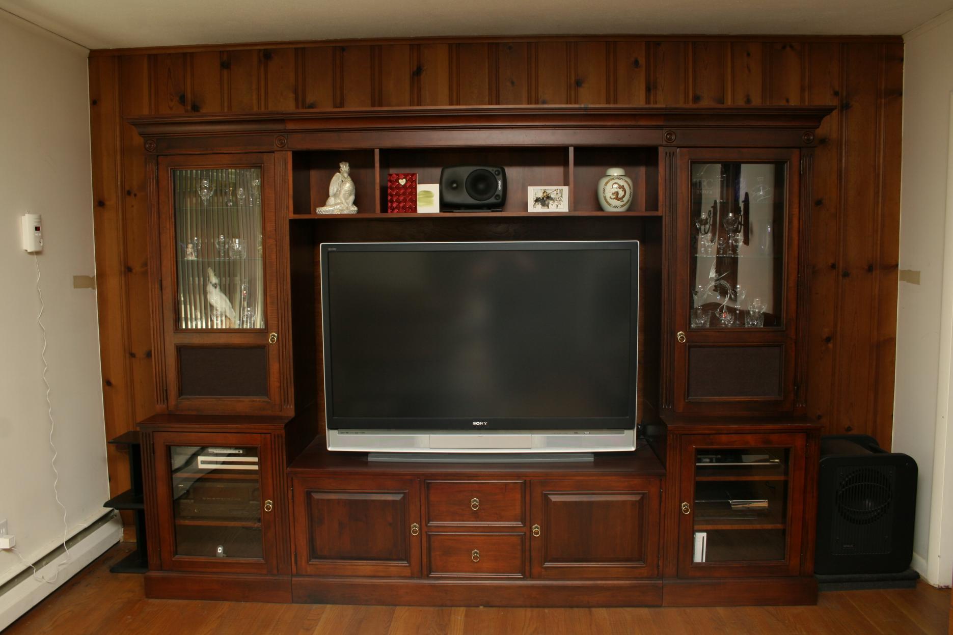 Gentil Treating Speaker Cabinet In Home Entertainment Center Full Entertainment  Center ...