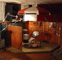 Acoustic Tratment with Patio Umbrellas!-houseofweenies.jpg