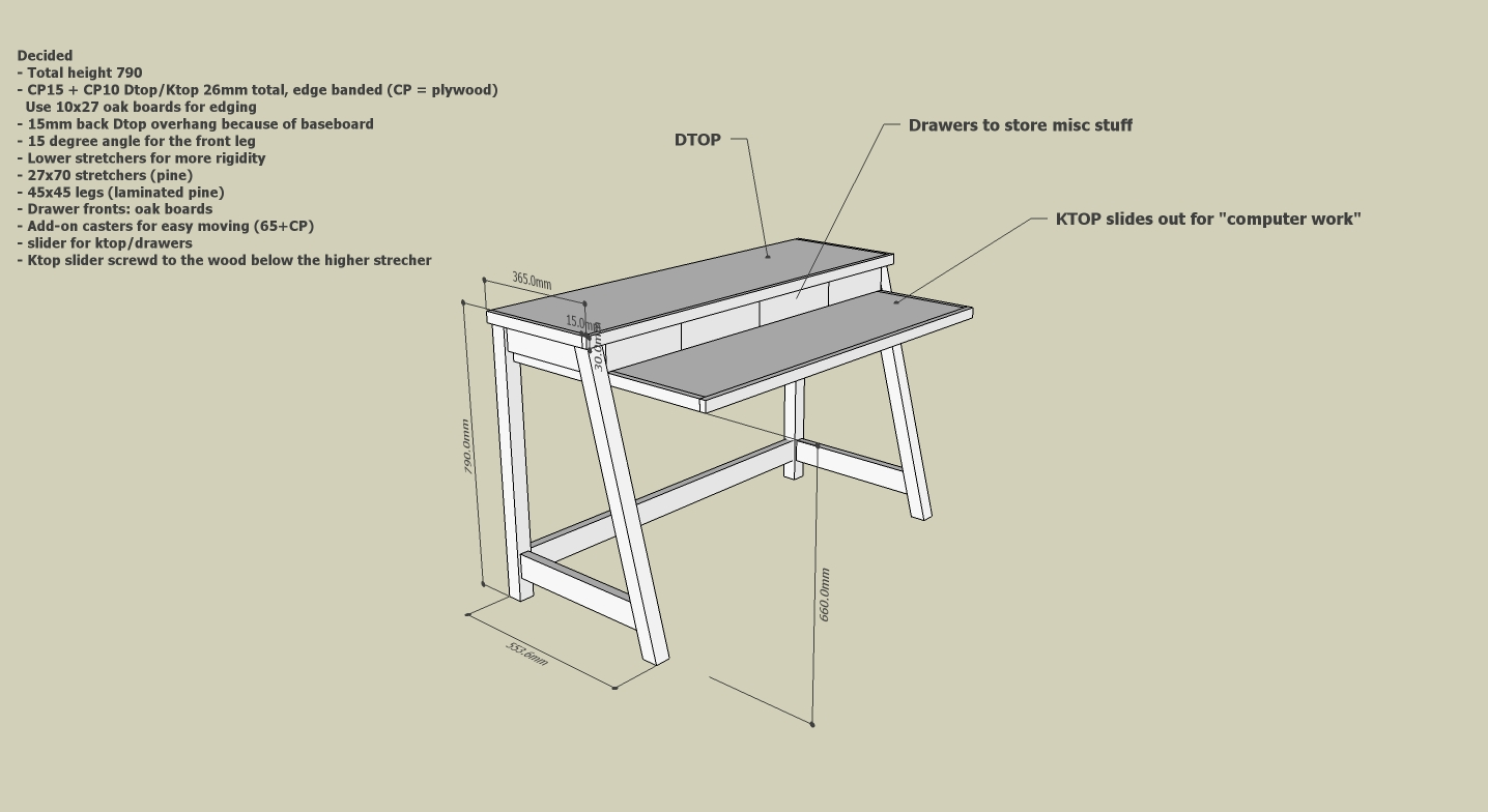 Anyone built a clever SMALL desk and care to share their design?-desk