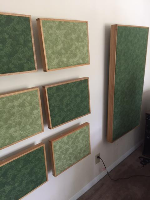 Fiberglass Absorption Panel : Found cubicle walls pulled out oc made absorption