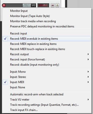 Recording in loop mode in Reaper - Gearslutz