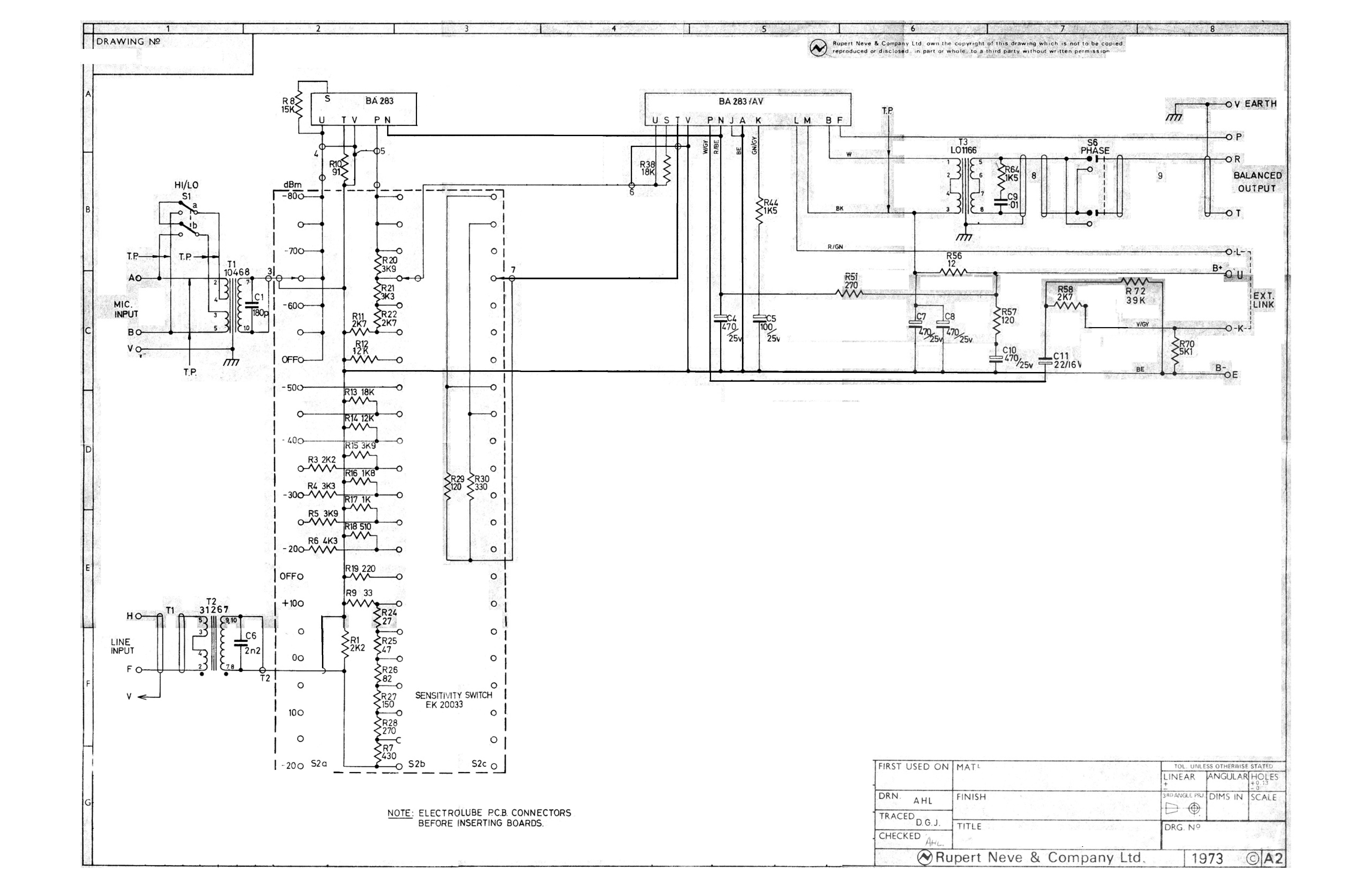 neve 1073 preamp schematic  neve  get free image about wiring diagram