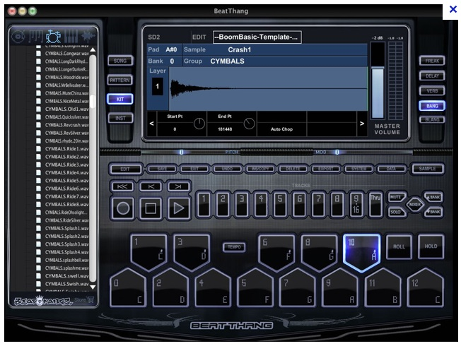 drum machine with bass