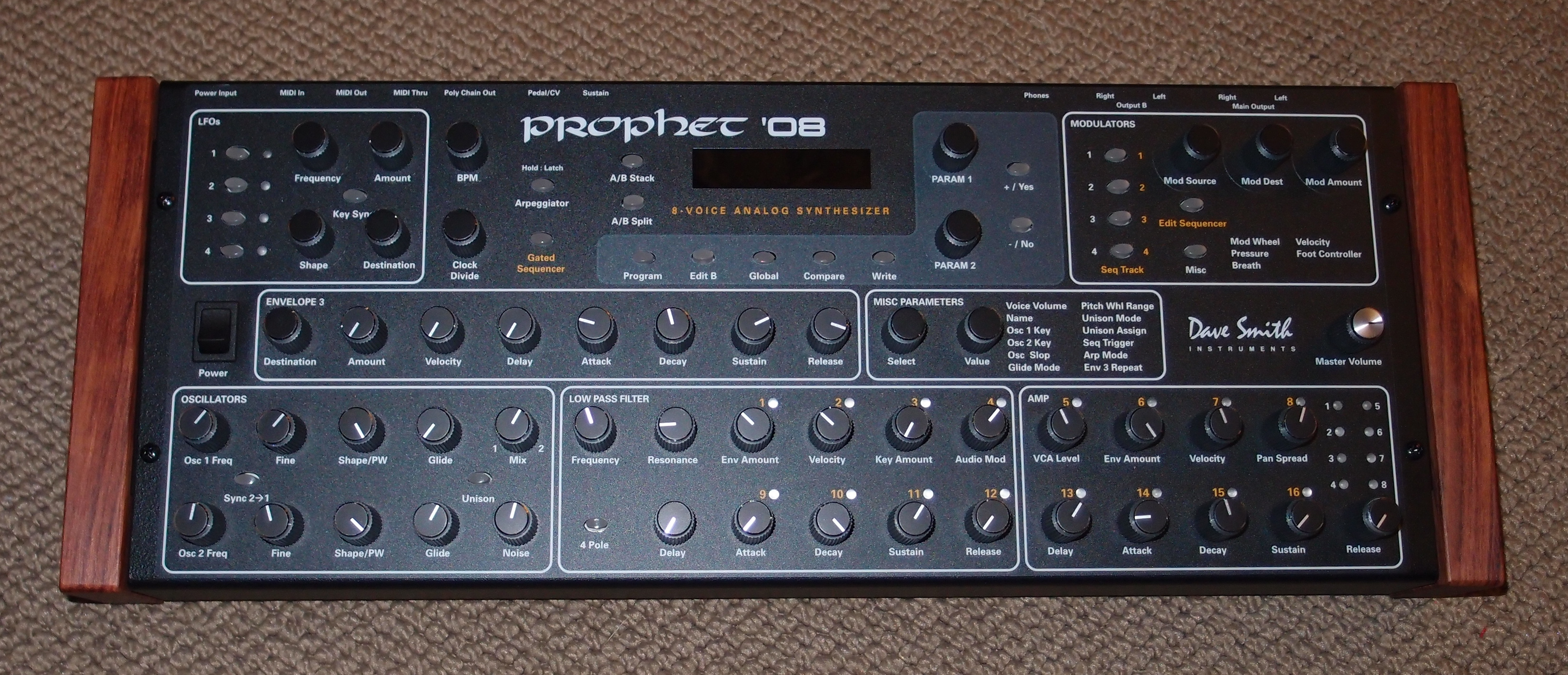 anyone have pics of a prophet 08 desktop module with the optional knob kit gearslutz pro. Black Bedroom Furniture Sets. Home Design Ideas