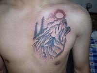 Akai unveils Rhythm Wolf - analog drum machine and bass synth-grey-ink-moon-howling-wolf-tattoo-man-chest.jpg