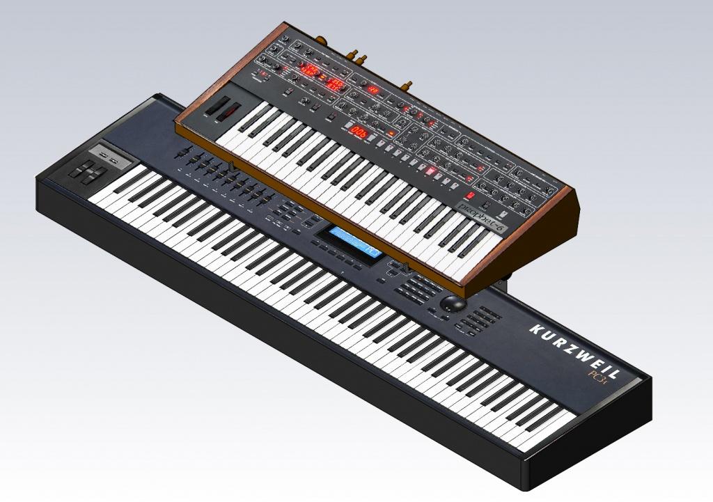 Desktop Small Keyboard Stand Riser Max Height Horiz Kbd