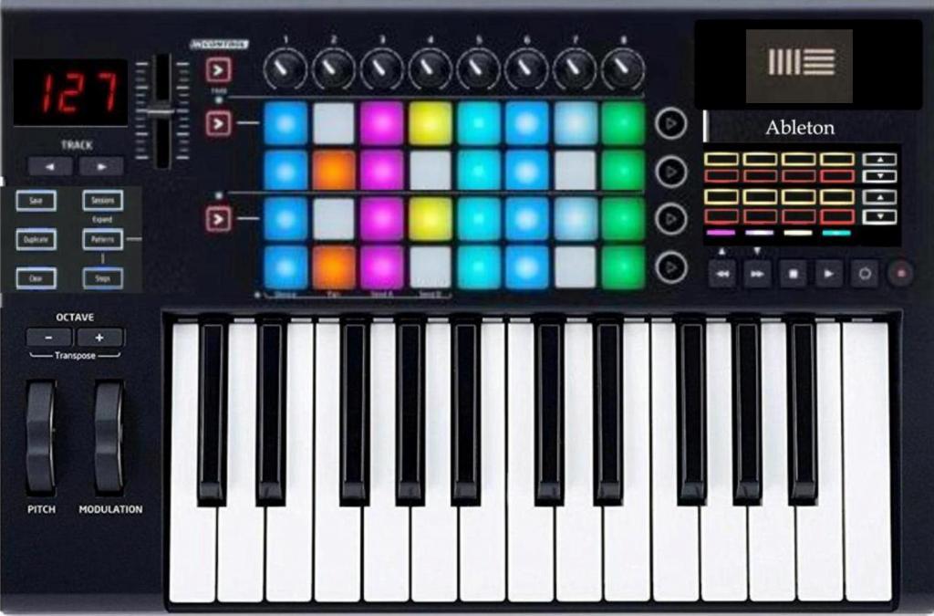 Novation Launchkey 25 Pro! Midi keyboard/64 step sequencer