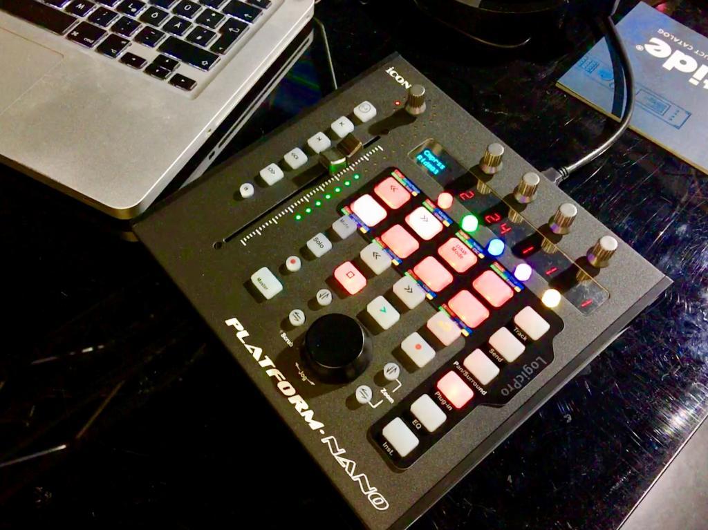 Icon Platform Nano DAW controller @Dancefair 2019 - Gearslutz