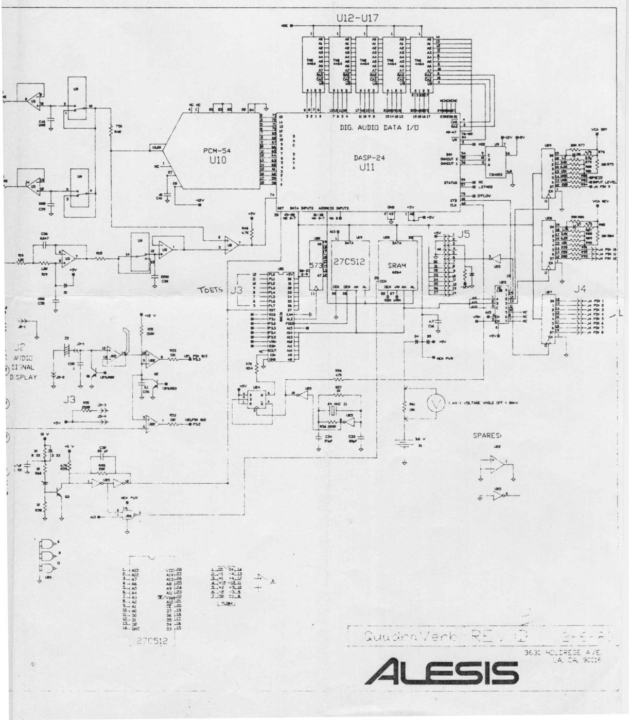 quadraverb 1 circuit board help