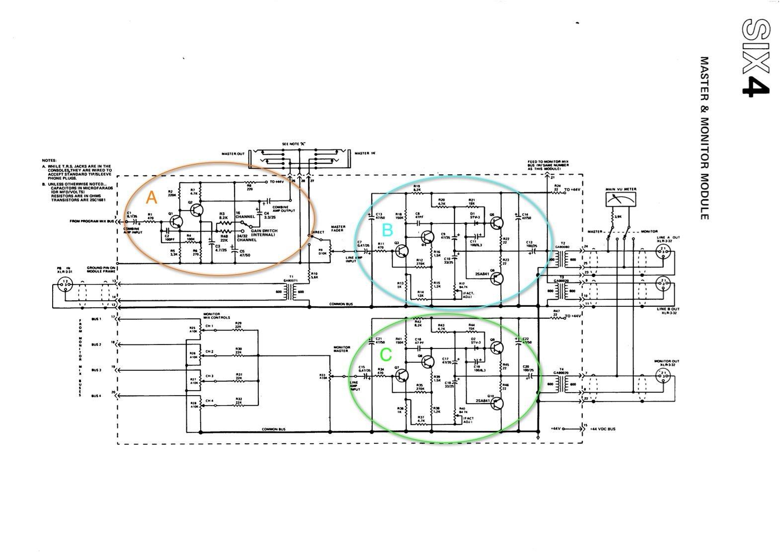 yamaha pm-1000  full mixer  output module question