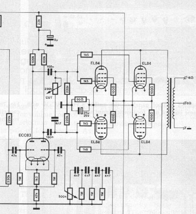 Educated needed for PI and EL84 power tube circuit - ugh