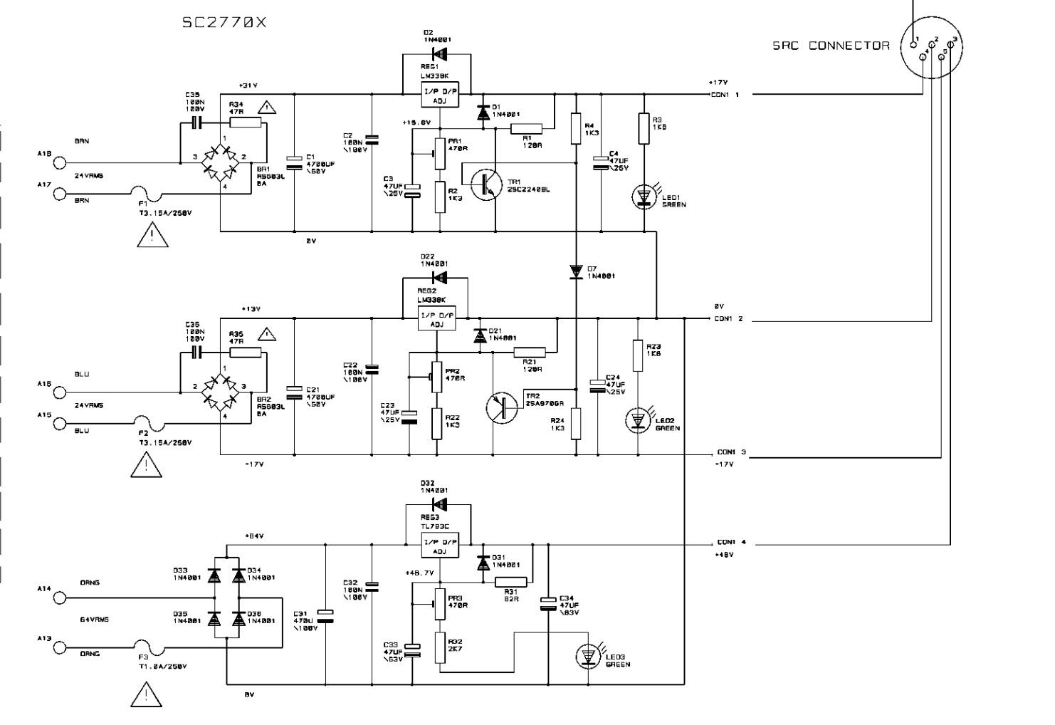 Fs Power Supply Soundcraft Cps150 Bipolar 1 25a W 48v