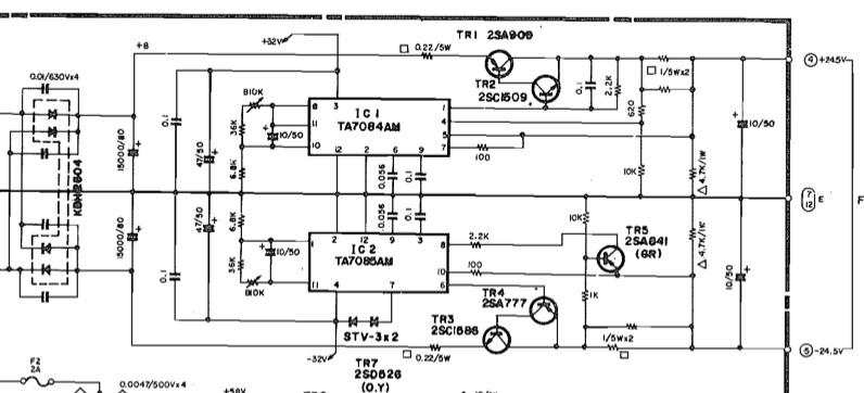 yamaha pm2000 power supply fixes