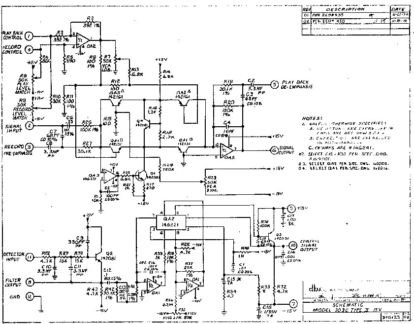dbx encode  decode pcb schematic needed