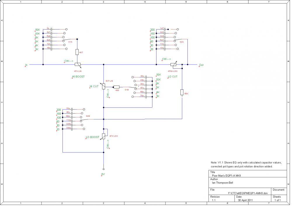 pultec schematic discrepancies