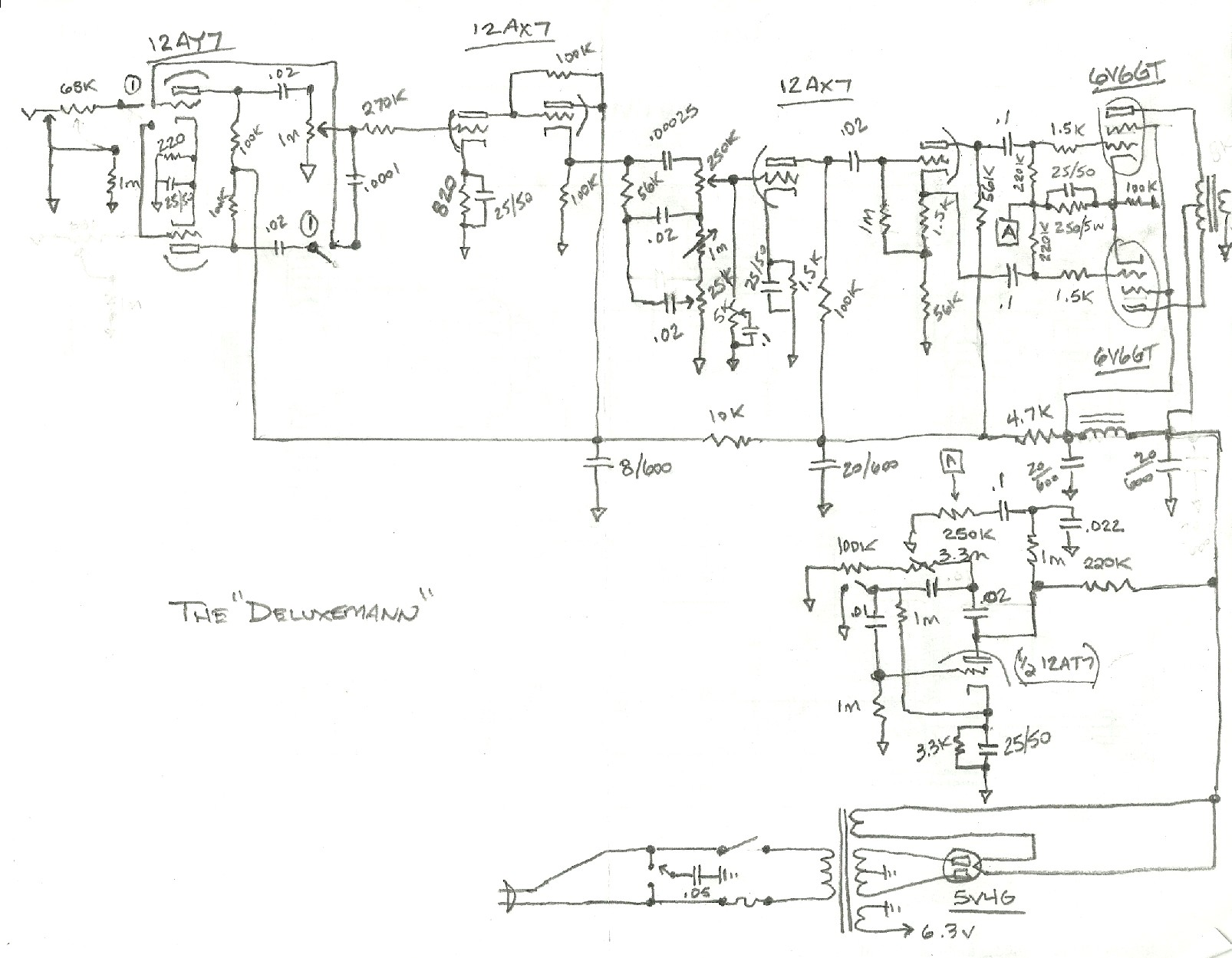 Tube amp guru's...want to check out my hack job schematic? - Gearz