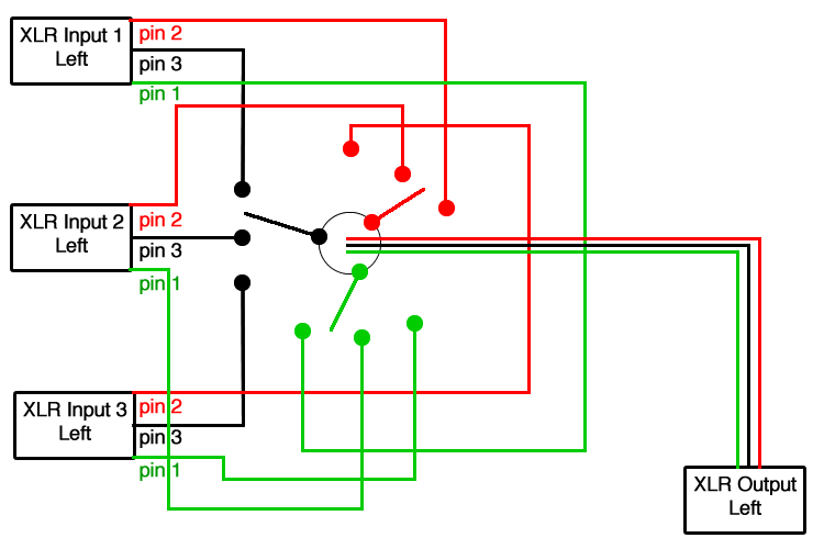 schematic of switch pickup selector