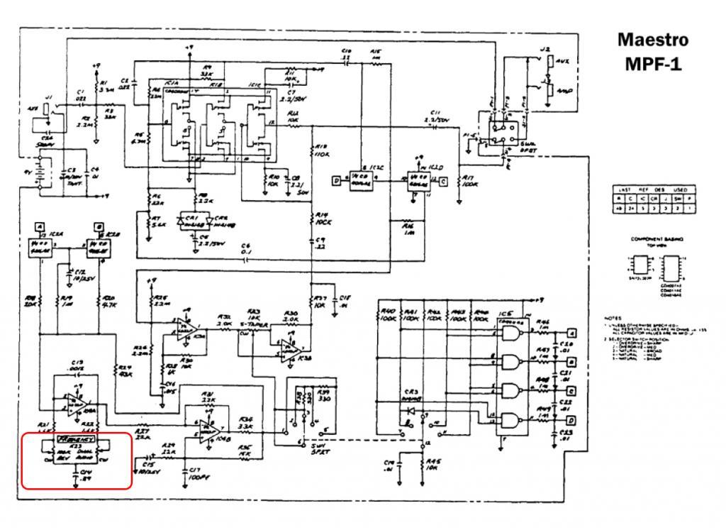 maestro mpf-1  parametric filter  question