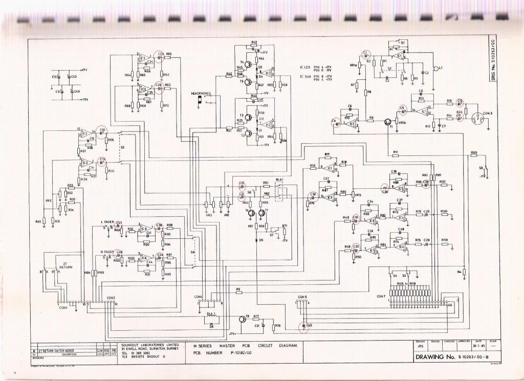 Soundtracs MR master schematic - Gearslutz