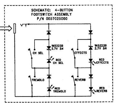 [SCHEMATICS_4FR]  Fender 4 button amp switch diodes - Gearslutz | Wiring Diagram Guitar Amp Footswitch |  | Gearslutz