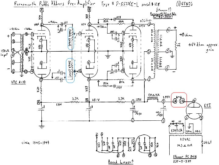 1945 mic preamp Farnsworth schematic Question  - Gearslutz