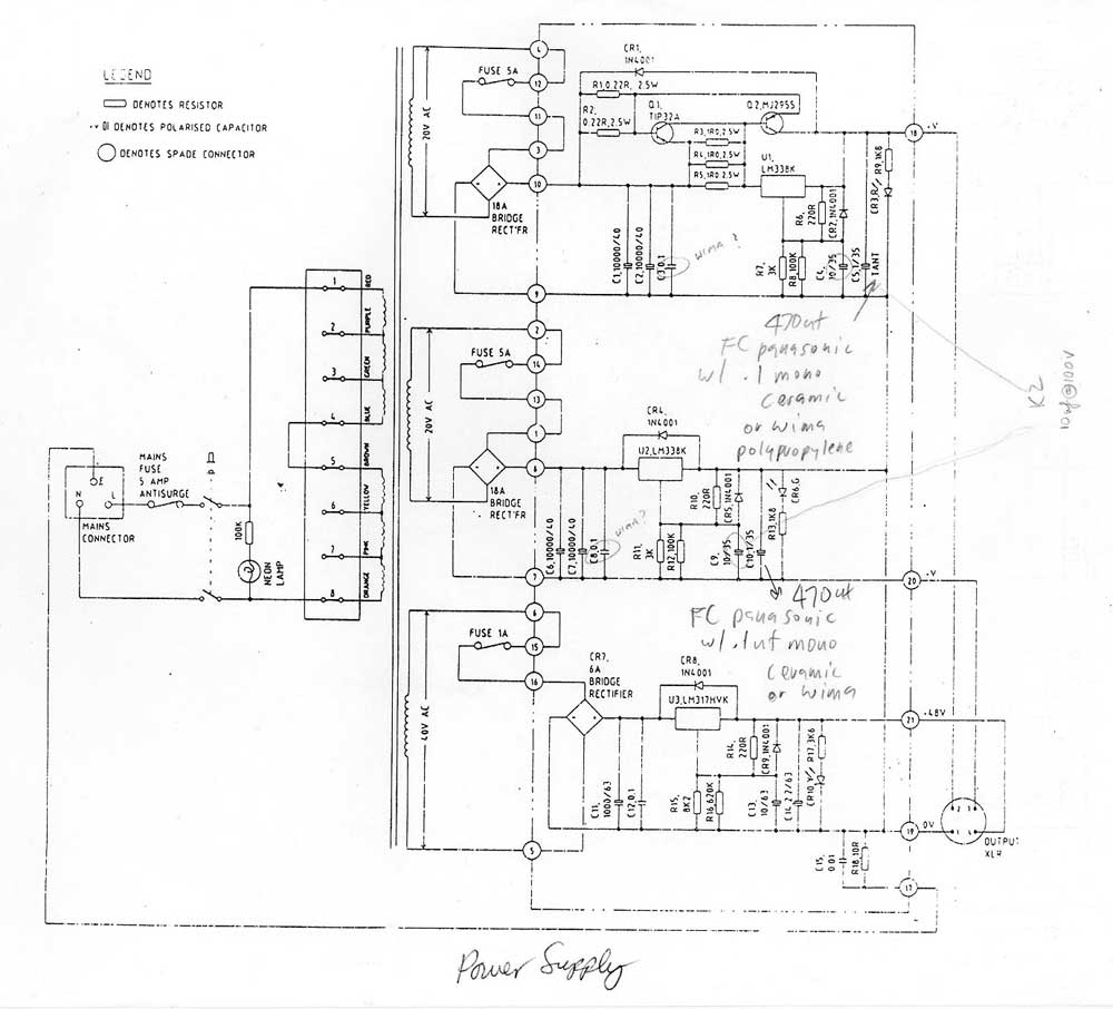 Amek Tac Series 350 Power Supply Gearslutz Used This Schematic From Matt As It The Same Transformer I Had Original Share Syson