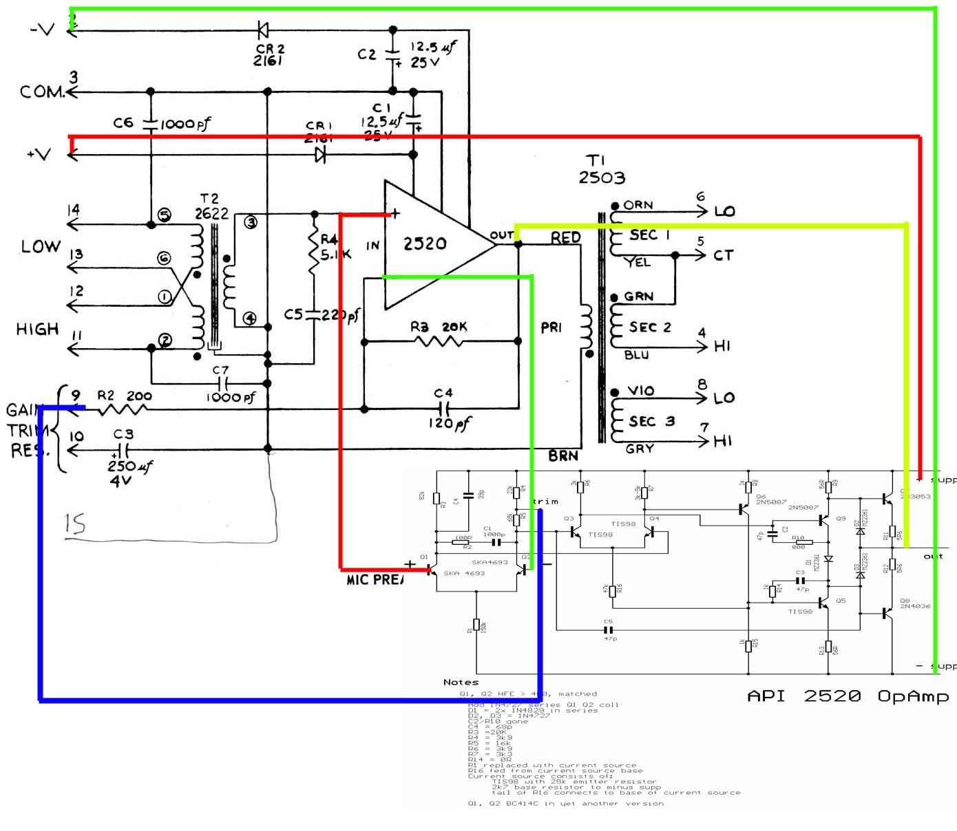 Api 2520 Opamp Gearslutz Op Amp Diagram Schematic