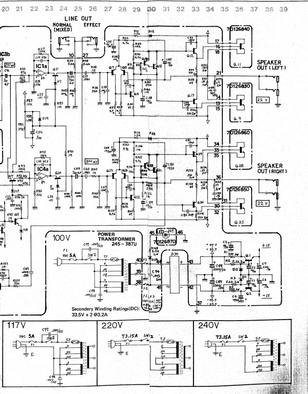 roland jc120-h output transistors