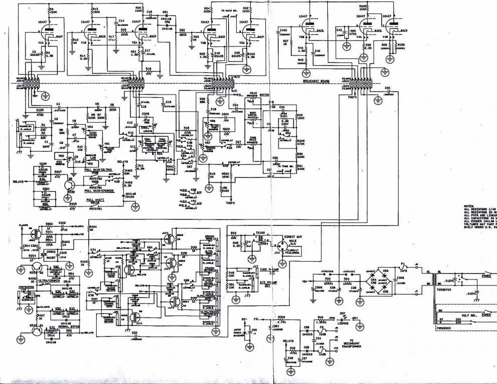 Tube preamp (Peavey Rockmaster) 12 6V or 24V Filaments?? - Gearslutz