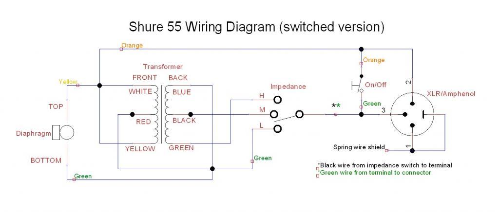 Shure 55 Wiring Diagram