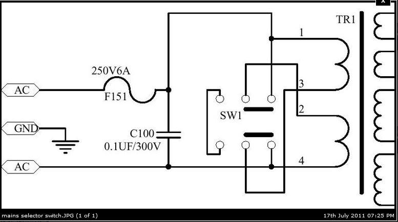 [SCHEMATICS_48IS]  240v / 120v volt wiring switch - Gearslutz | 115 To 220 Wiring Diagrams |  | Gearslutz