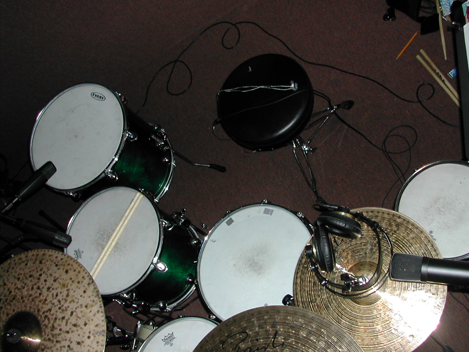 Pictures Of Mic U0026 39 Ed Up Drum Kits In The Studio