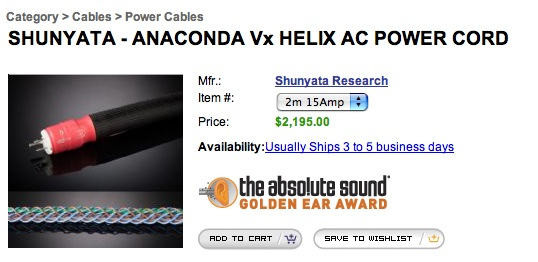 $50 AC power cord?? - Gearslutz