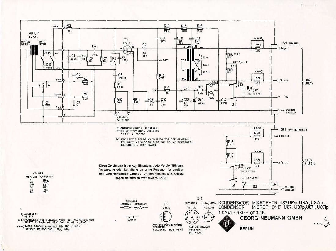 Dynamic Microphone Amplifier Circuit Circuits Audio Schematics Vintage U Mods Gearslutz Pro Community Com Schematic Preamp
