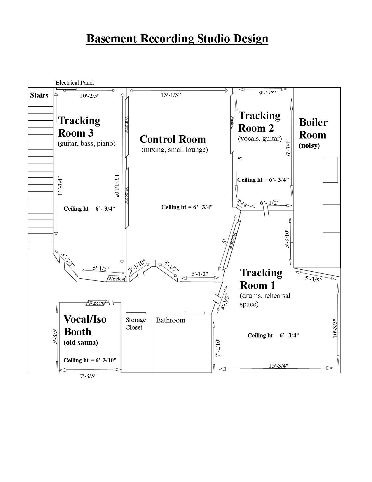 Music Studio Room Design: Studio Design And Wiring Scheme, Need Help!