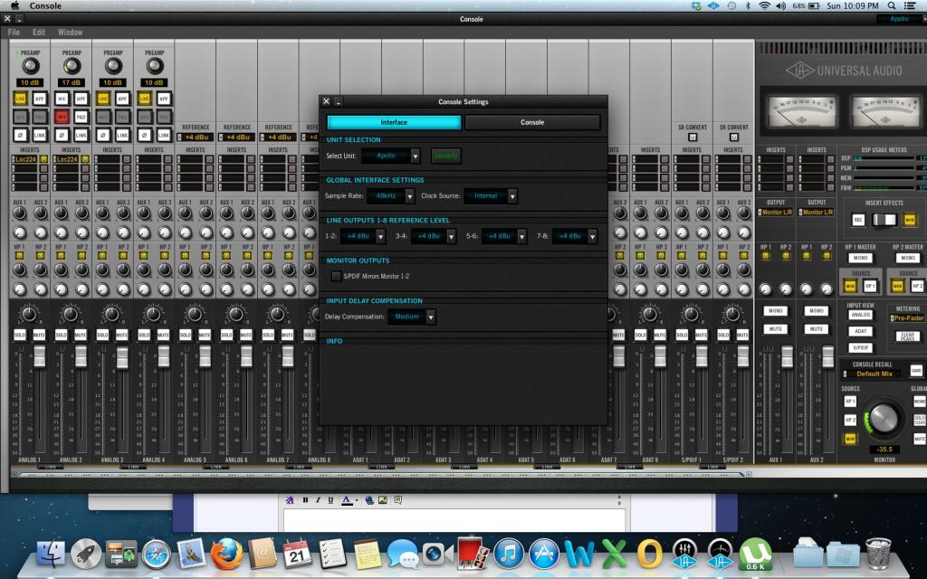 UAD APOLLO and Pro Tools? (how to?) NO PT Mode in console?? - Gearslutz