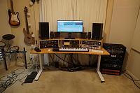 Kii 3 on desk versus floor stands-studio-desk-build-7-9.jpg
