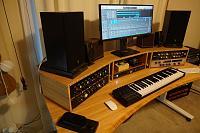 Kii 3 on desk versus floor stands-studio-desk-build-8-9.jpg