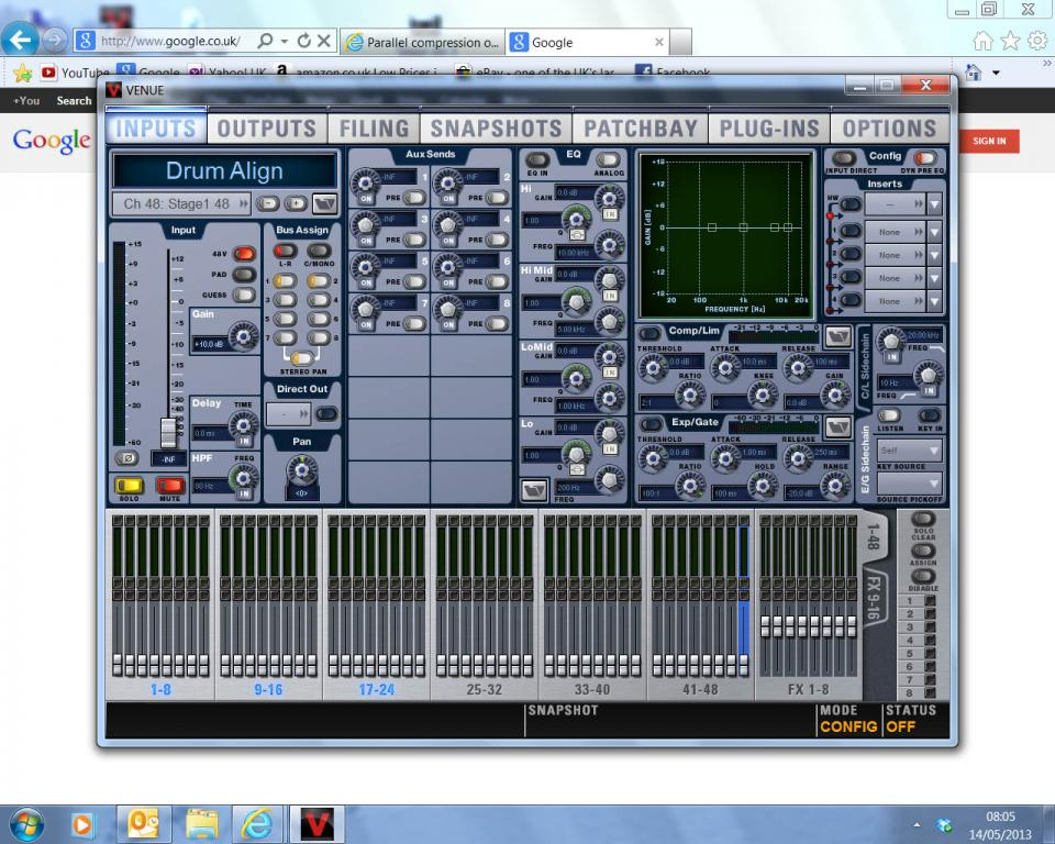 Parallel compression on a live digital console - Gearslutz