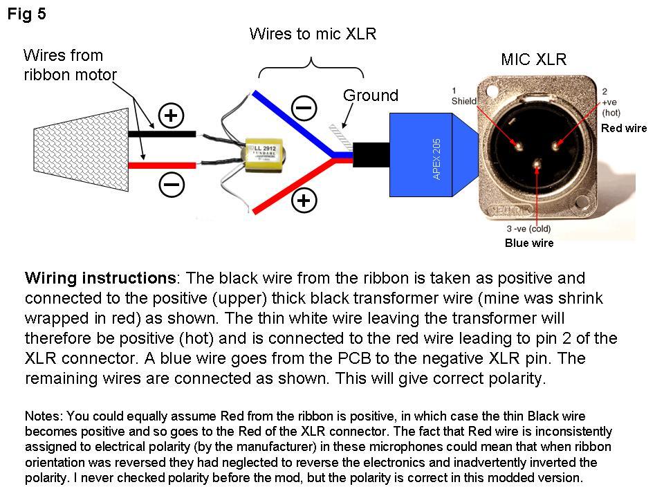 Apex 205 Ribbon Mic   Transformer Mods