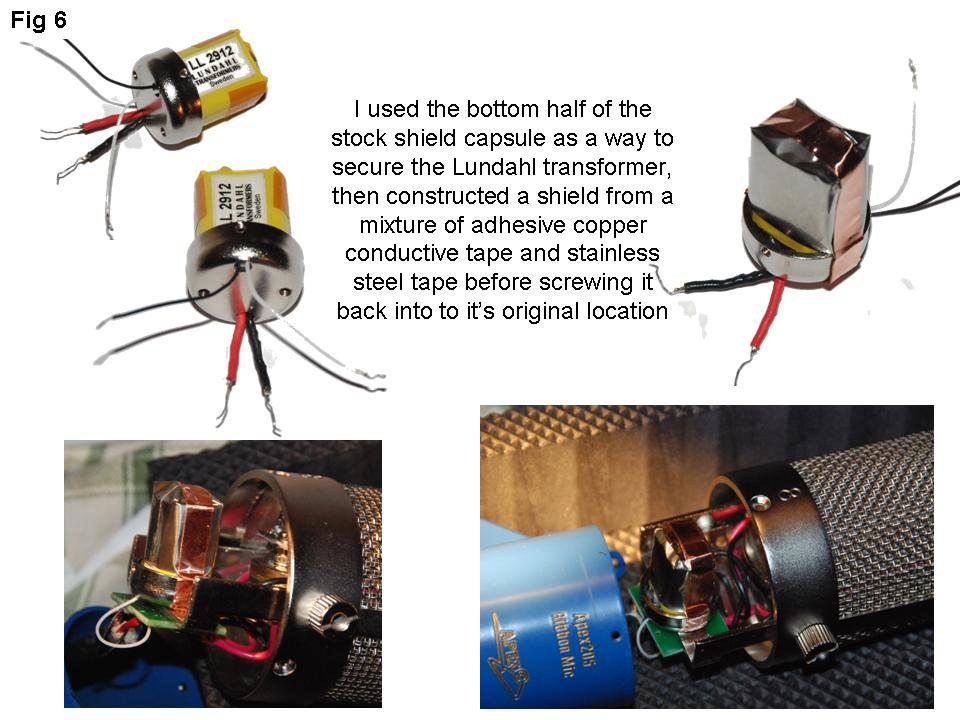 apex 205 ribbon mic + transformer mods
