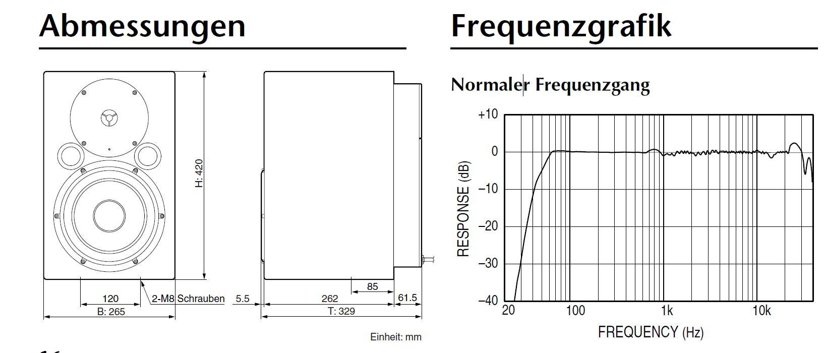 Yamaha Ns  Frequency Response