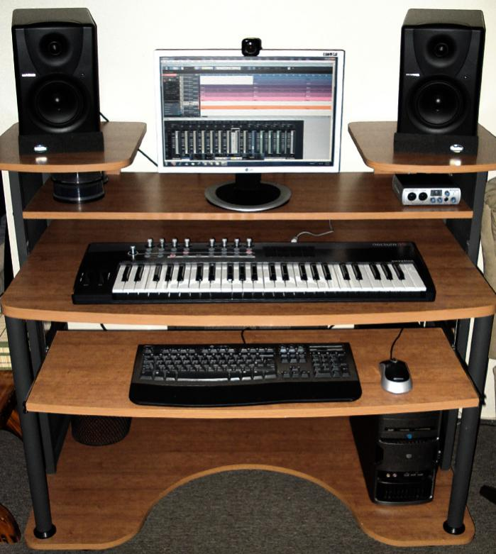cheap my new studio desk studiojpg with home studio desk design - Home Studio Desk Design