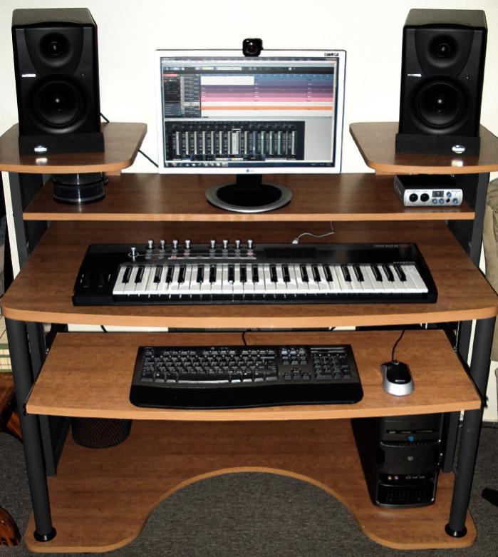 cheap my new studio desk studiojpg with home studio desk design - Home Studio Desk Design