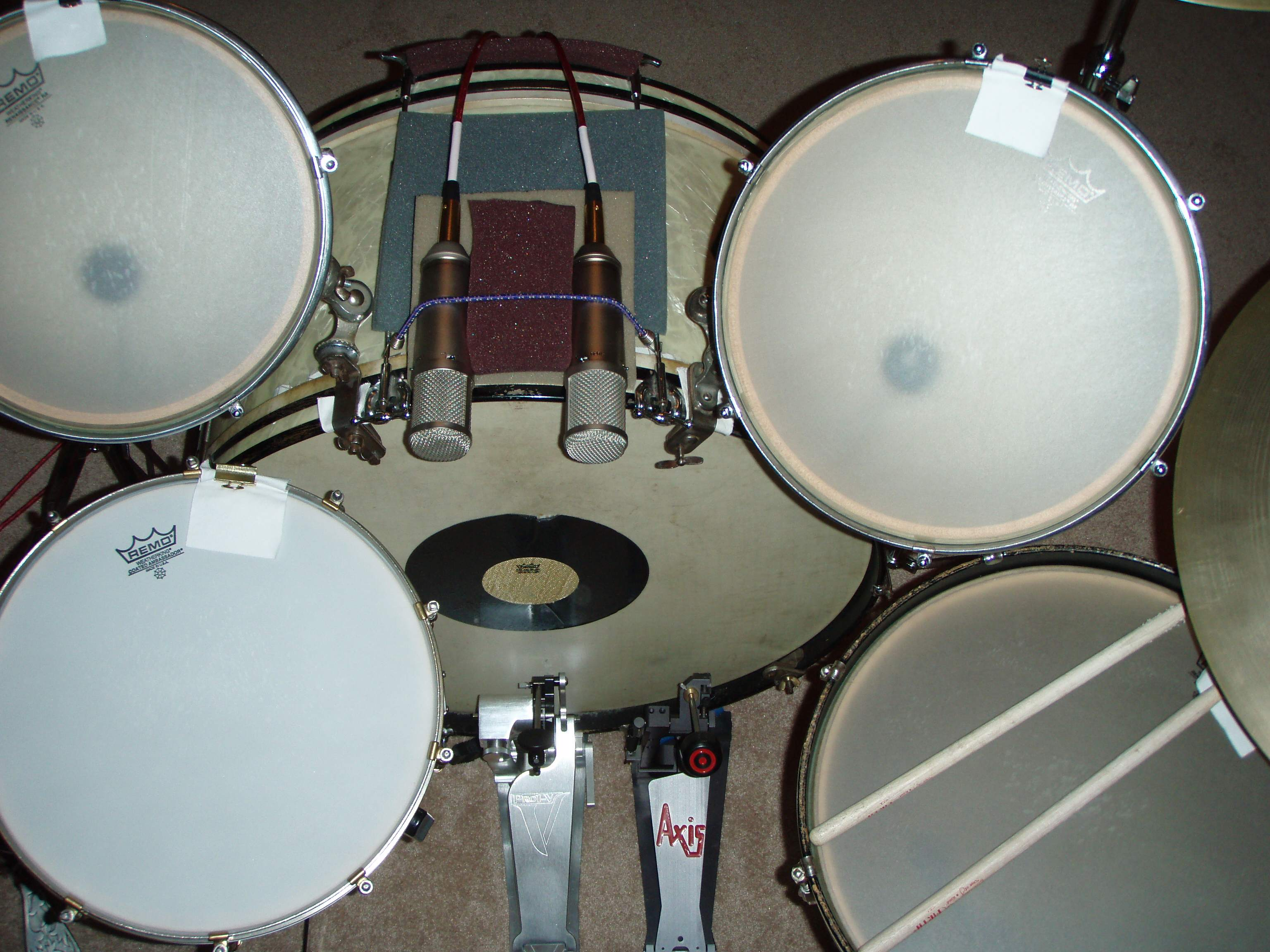3 mic drum recording. Black Bedroom Furniture Sets. Home Design Ideas